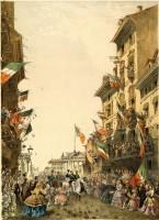 Entrata di Vittorio Emanuele a Brescia