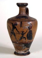Lekythos attica a figure nere