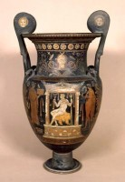 Apulian volute krater with mascarons