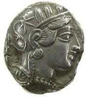 Tetradracma in argento di Atene, dritto