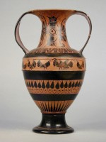 Attic black-figure amphora signed by Nikosthenes