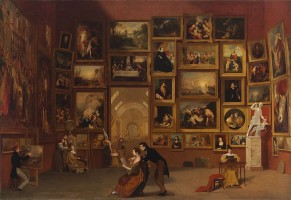 Samuel Morse. Gallery of the Louvre, 1831-33. National Gallery of Art, Washington.