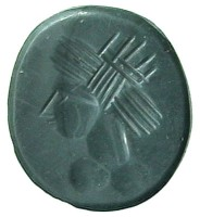 Diaspro con testa di Helios-Sole