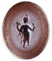 Agata stratificata con figura di Arpocrate