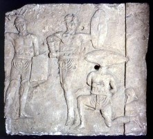 Relief with a gladiatorial scene