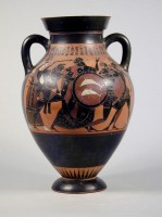 Black-figure attic amphora  (540-510 BC)