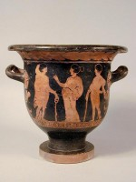 Lucanian red-figure bell krater (side A)