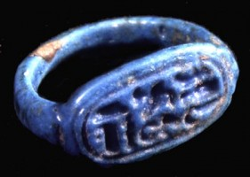 Ring with the cartouche of Tutankhamen