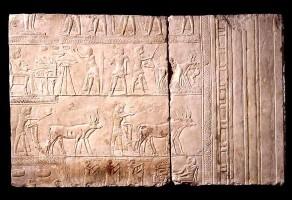 Rilievo dalla tomba di Horemheb al lavoro nei campi dell'oltretomba