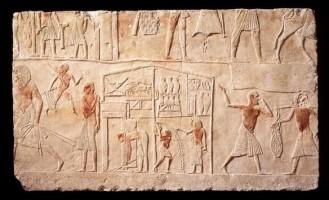 Rilievo dalla tomba di Horemheb con tenda da campo