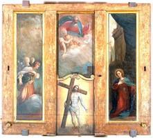 Ludovico Carracci (attribuito a), Il Redentore, il Padre Eterno e l'Annunciazione, deposito dall'Istituto Giovanni XXIII, 1983, Collezioni Comunali d'Arte
