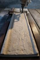 La realizzazione della copia del rilievo di Ptahemwia