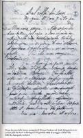 Lettera di Carducci ad Adele nel volume