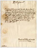 Lettera del Gran Maestro dell'Ordine di S. Giovanni al cardinale Alessandro Farnese