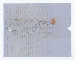 Lettera spedita da Malta e diretta a Messina