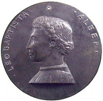 Medal by Matteo de' Pasti with portrait of L. B. Alberti