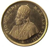 Medaglia di Tommaso Mercandetti per Pio VII