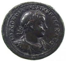 Medaglione in bronzo di Gordiano III