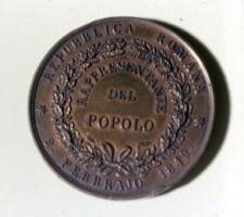 Medaglia commemorativa dell'Assemblea Costituente della Repubblica Romana