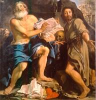 Aureliano Milani, San Gerolamo e il beato Napoleone Ghisilieri, acquisizione, 1990, Collezioni Comunali d'Arte