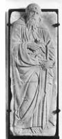 Maestro del Monumento Fava (prima metà del sec. XV), Sant'Antonio Abate, dono delle famiglie Foresti e Francolini, 1993, Museo Civico Medievale