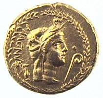 Aureo di Gneo Pompeo, DRITTO