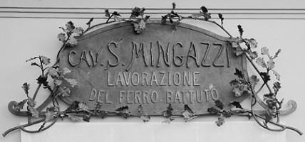 Sante Mingazzi, Insegna dell'Officina Mingazzi, dono di Angela Mingazzi, 1982, Museo Davia Bargellini