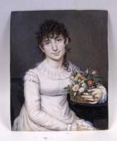 Ritratto di fanciulla con canestro di fiori