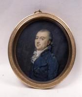 Ritratto di gentiluomo con redingote azzurra