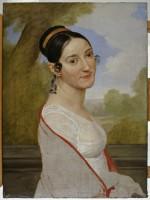 Pelagio Palagi (Bologna, 1775 - Torino, 1860), Ritratto di donna (Ritratto di Teresa Tambroni Cuty), 1813 ca. Mambo - Collezioni Storiche.