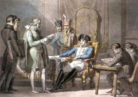 Pelagio Palagi, Napoleone istituisce il Regno d'Italia/1, acquisizione, 1998, Incontri & arrivi 5, Collezioni Comunali d'Arte