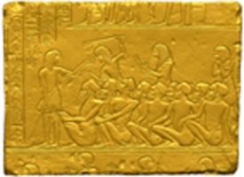 uno dei rilievi di Horemheb in copia, in corso di lavorazione