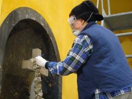 laboratorio di pulizia e ricognizione alla Certosa