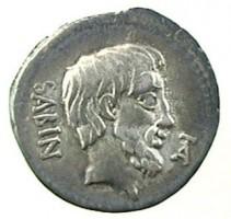 Denario in argento di L. Titurius Sabinus