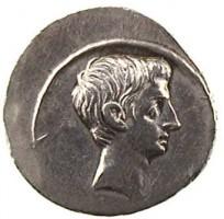 Denario in argento di Ottaviano Augusto