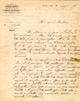 Lettera dell'Ispezione generale delle Regie Scuderie a Brigida Fava Ghisilieri Tanari