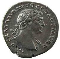 Denario in argento di Traiano
