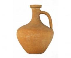 Bottiglia ansata in ceramica comune