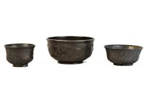 Tre tazze in argento da San Donino