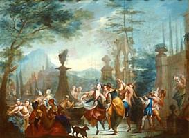 Vincenzo Maria Bigari (ambito di), Scena danzante, acquisizione, 1991, Collezioni Comunali d'Arte