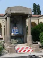 Cappellina dei Caduti in Russia (durante il restauro)