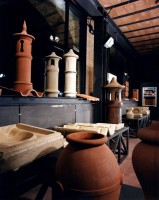 Collection of molds and architectural elements in structural cooked belonged mostly to the Società Laterizi of Imola