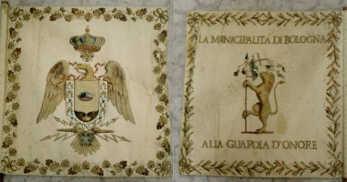 Stendardo della Guardia d'onore offerto a Napoleone I dalla Municipalità di Bologna