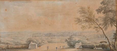 Ambito bolognese (sec. XIX), Veduta di Bologna dal colle dell'Osservanza, acquisizione, 2000, Collezioni Comunali d'Arte