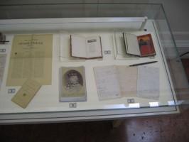 La vetrina dedicata a Garibaldi