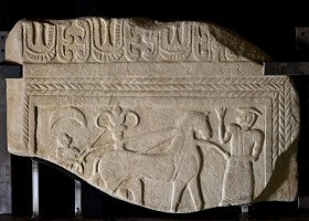 """Zannoni"" stela, sandstone, second quarter of 7th century BC"