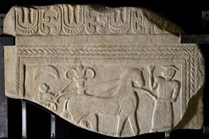 Stele in arenaria detta Zannoni, dal nome dello scopritore, (Bologna). Primi decenni del VII sec. a.C.