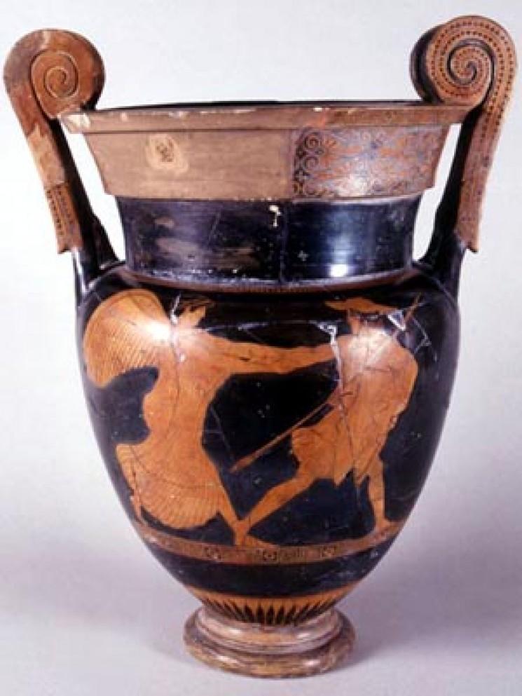 Collezione greca la ceramica attica a figure rosse for Vaso greco a due anse