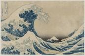 Katsushika Hokusai La [grande] onda presso la costa di Kanagawa, dalla serie Trentasei vedute del monte Fuji 1830-1831 circa silografia policroma 23.8 x 36.6 cm Kawasaki Isago no Sato Museum Nellie Parney Carter Collection—Bequest of Nellie Parney Carter