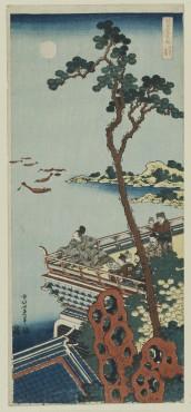 Katsushika Hokusai Abe no Nakamaro dalla serie Specchio dei Poeti Giapponesei e Cinesi 1833 circa 52.3 x 23.2 cm Silografia policroma William Sturgis Bigelow Collection